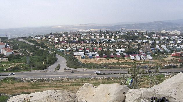 Bone of Contention: The settlement of Ariel juts into the West Bank, cutting it in two.