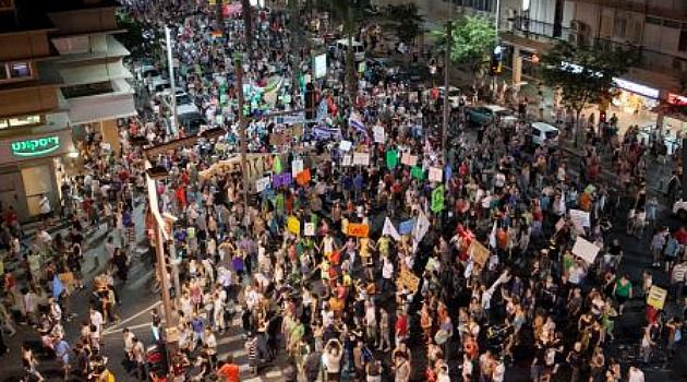 2011 Redux: Throngs of Israelis took to the streets to protest government austerity measures.