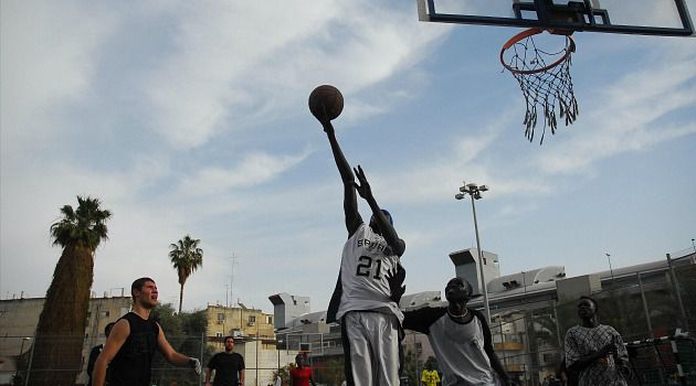 Hoop Dreams: Immigrants from Africa play hoops in Israel. A New Yorker made a court in Beersheba a reality as part of his bar mitzvah project.