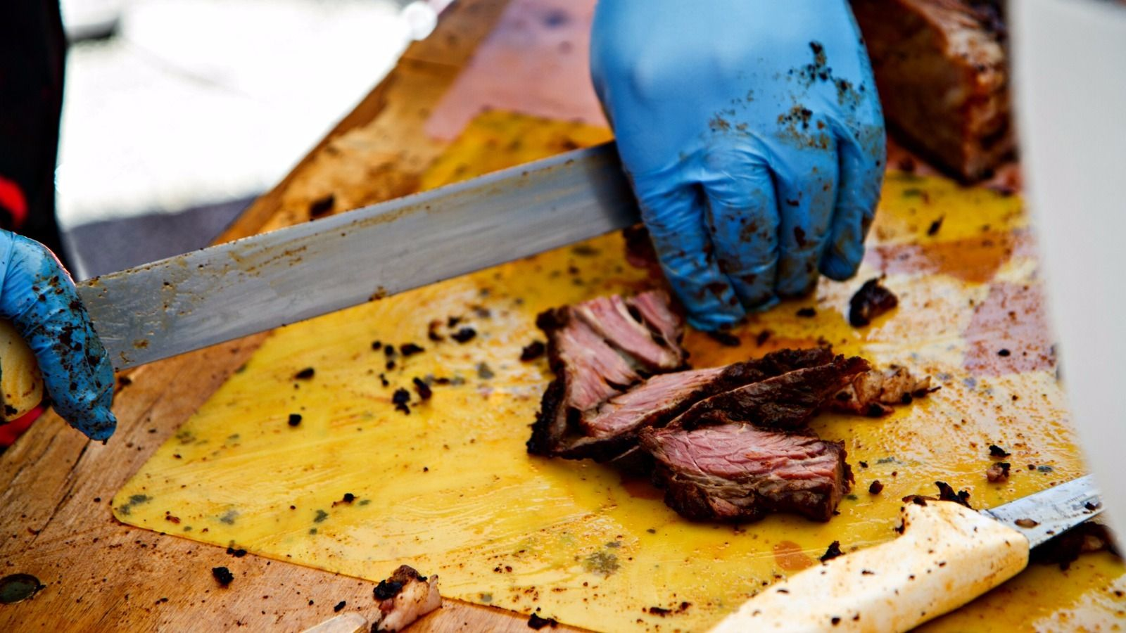 Beautiful Brisket: To ensure kosher standards, the meat is provided by the Jewish organizations that host the events.