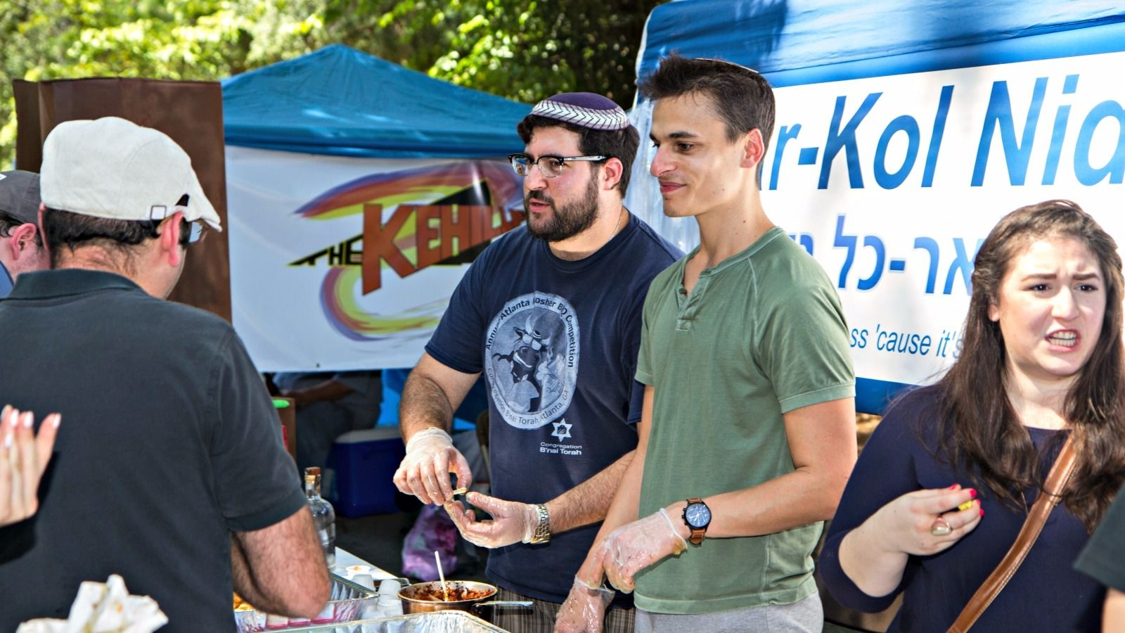 Kosher Competition: Competitors at the Atlanta Kosher BBQ Festival.