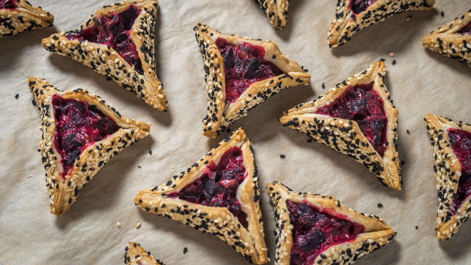 Roasted beet hamantaschen from Breads Bakery.