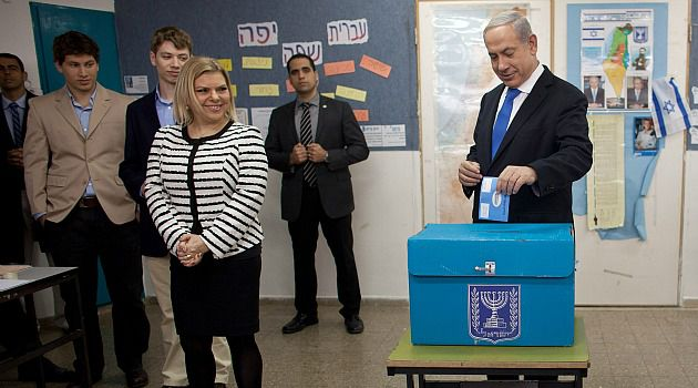 Early and Often: Benjamin Netanyahu casts his ballot as Israel goes to the polls in an election he is expected to win.