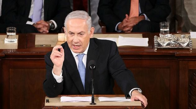 Better Days: Benjamin Netanyahu received a standing ovation from lawmakers on both sides of the aisle when he addressed Congress in 2011.