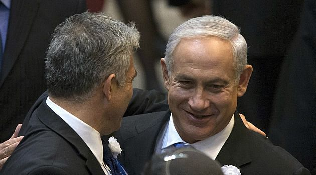 Best Pals: Benjamin Netanyahu has met with Yair Lapid in an effort to hash out a new coalition.