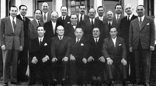 The Bonnyton Golf Club committee in 1957.