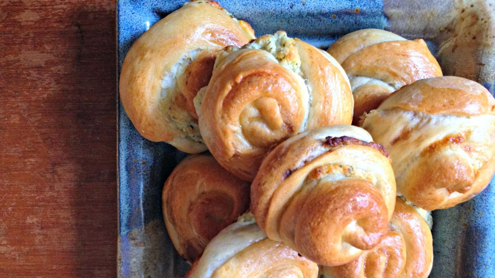 Bulemas are savory Sephardic pastries most often filled with spinach, cheese or eggplant.