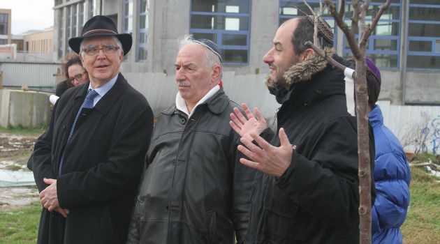 Faithful Experiment: Jews are joined by leaders of other faiths at a Tu B?Shvat tree-planting ceremony in the Paris suburb of Bussy-Saint-Georges.