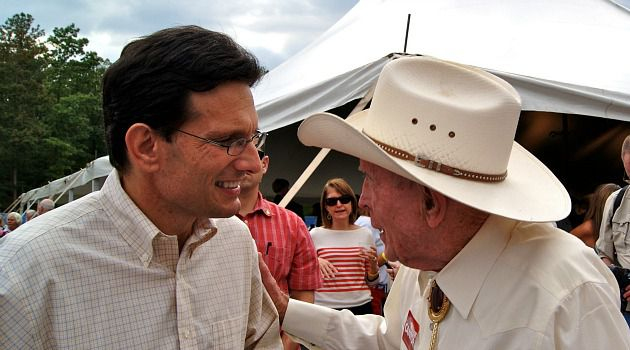 Running Hard : Eric Cantor represents a safe Republican seat in Virginia. But in a tricky political climate, he is campaigning harder than ever.