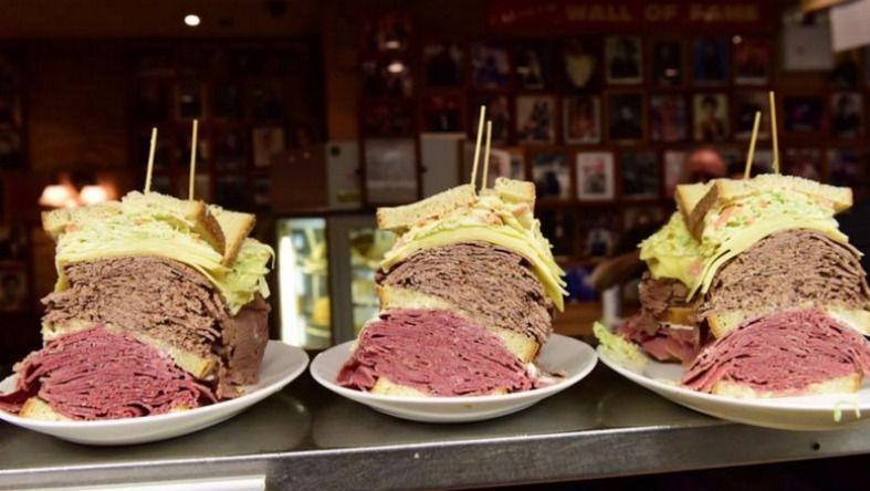 """If I Was a Wich Man"" sandwich at Carnegie Deli."