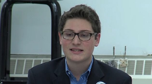 He?s Our Boy: High school senior Chase Harrison makes a point during debate for Millburn, N.J. school board election. He won!