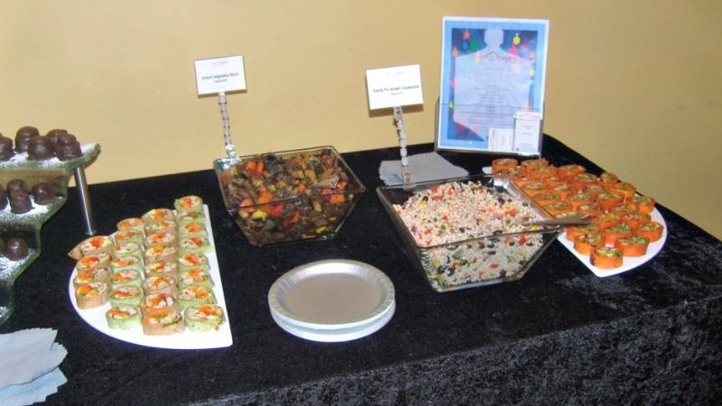 A spread of kosher wraps and salads from Chef Dave's Catering, similar to what's on offer at the Republican National Convention this week.