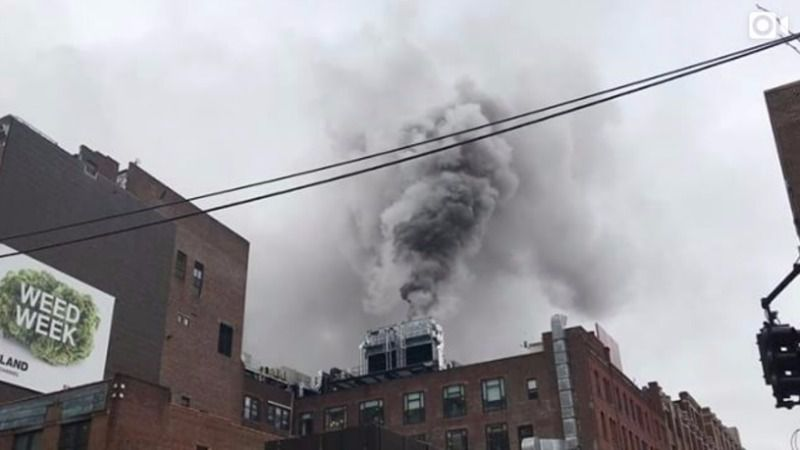 Fire at Chelsea Market.
