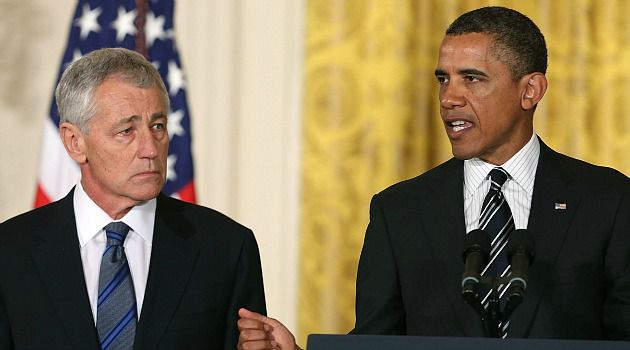 Clearing the Air : Pentagon nominee Chuck Hagel spoke to lawmakers to clarify his views on the Mideast and Iran.