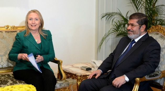 Quest for Peace: Hillary Clinton meets Egypt?s premier Mohammed Morsi as the quest for a ceasefire in Gaza continues.
