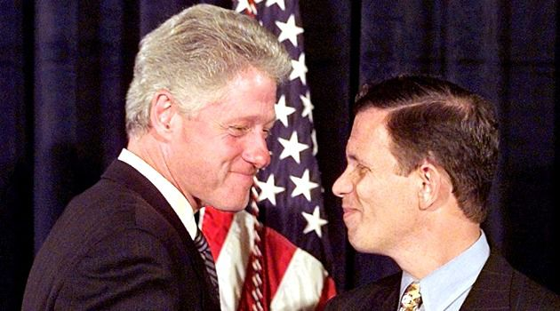Deep Ties: Steve Grossman, one-time head of the Democratic National Committee, with former U.S. President Bill Clinton in 1997.