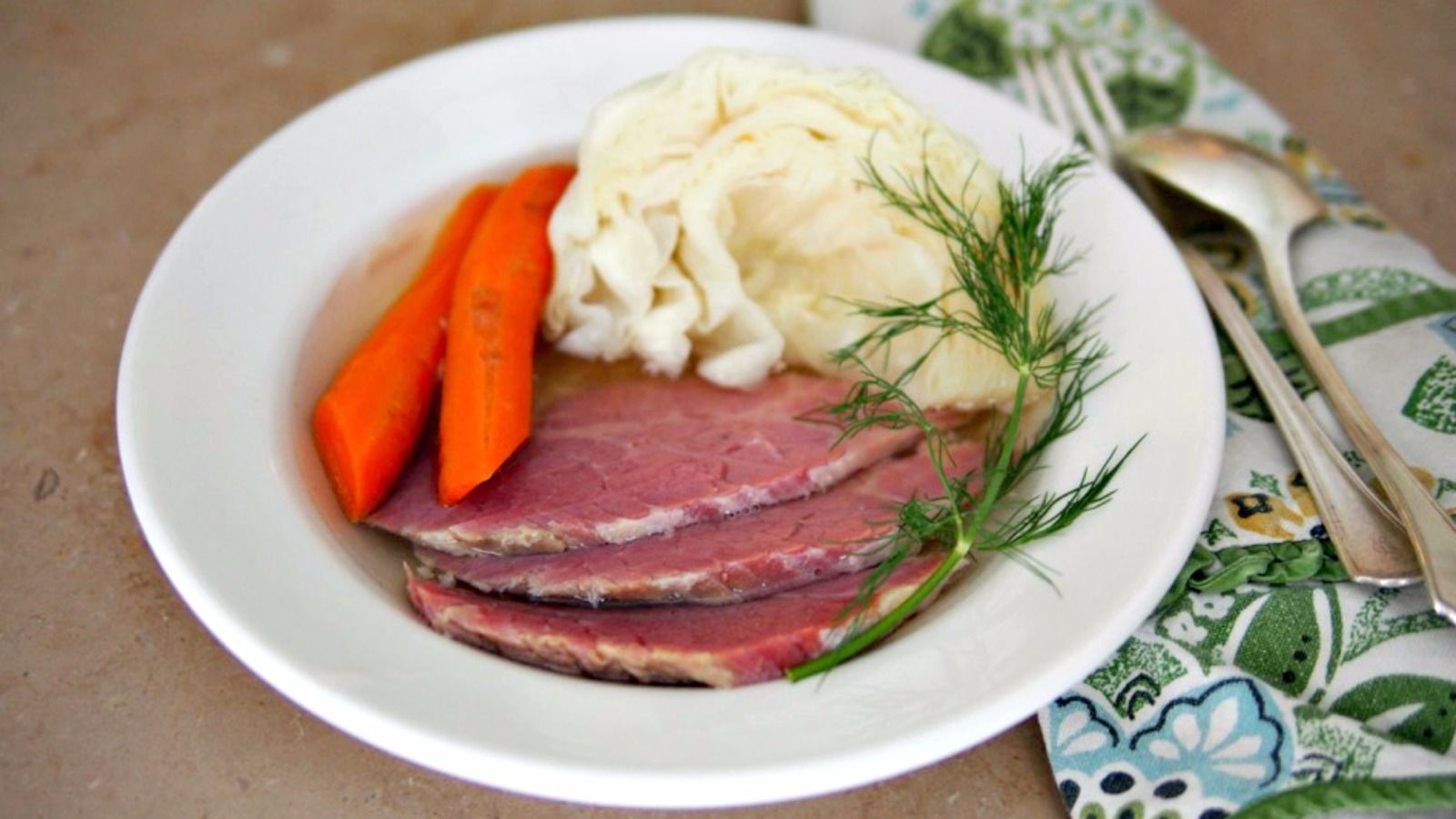 Slow-cooker corned beef and cabbage for St. Patricks Day — or perhaps Shabbat.