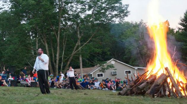 Welcome: Campers get welcome at Camp Dora Golding in the Poconos.