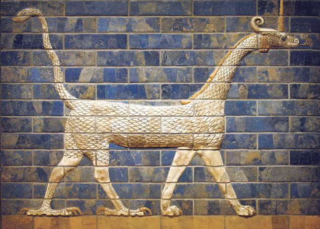 Enter The Dragon: Marduk, the bravest Babylonian god, patrolled the gate of Ishtar.
