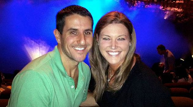Doomed: Justin Friedland, left, was shot dead in front of his horrified wife, Jamie, at an upscale N.J. mall
