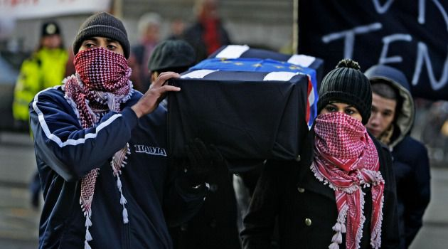 Anger at Israel: Dutch Muslims protest Israeli war in Gaza.