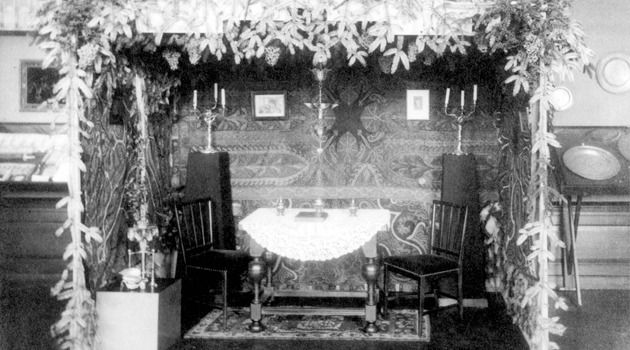 A Dutch sukkah in prewar Holland.