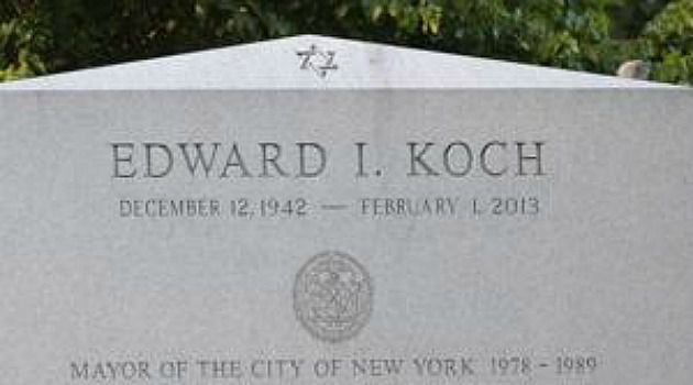 Grave Error: Ed Koch?s grave stone says he was born in 1942 ? instead of 1924.
