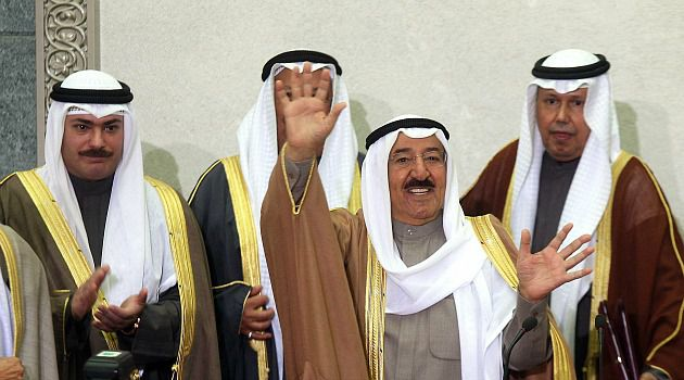 Bad Tweet: Kuwaiti Emir Sheikh Sabah al-Ahmed al-Sabah waves upon arrival to address the opening session of the newly elected parliament in Kuwait City. A court sentenced a man to two years in prison for insulting the leader on Twitter.