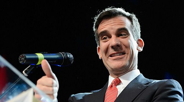 Jew v. (Married to) Jew: Eric Garcetti won a non-partisan primary election for mayor of Los Angeles. He will face Wendy Greuel in a run-off in May.