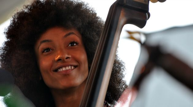 Jazz diva Esperanza Spalding plays at the Newport Jazz Festival, which was founded by Jewish promoter George Wein.