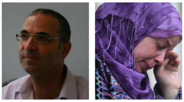 Two Grieving Families: The uncle of Israeli teen Naftali Fraenkel (left) and the mother of Palestinian revenge victim Mohammed Abu Khdeir (right) mourn their loss.