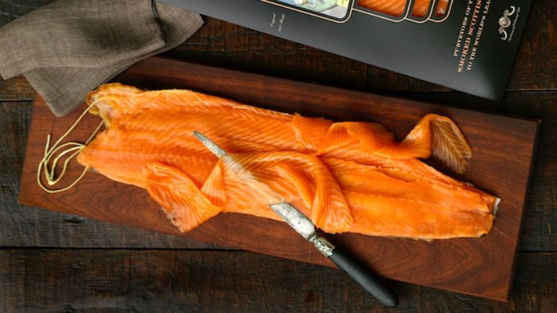 Among other things, Scottish salmon (seen here) is more orange; Norwegian is more peach colored.
