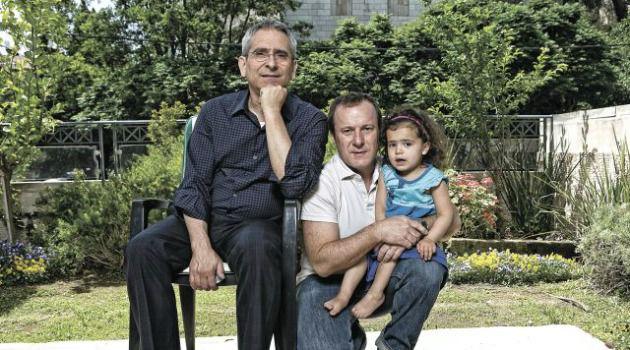 Daddies? Girl: Steven Greenberg and husband Steven Goldstein are raising their daugher, Amalia.
