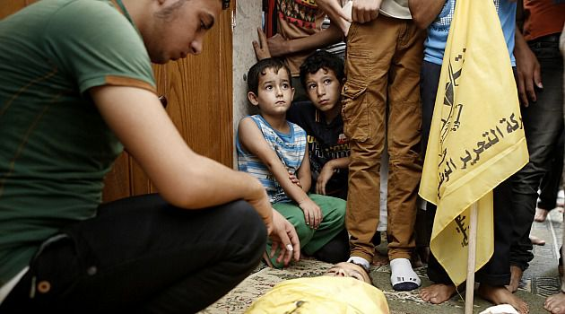 Tears and Rage: Palestinian children mourn two relatives killed by Israeli shelling in Gaza.