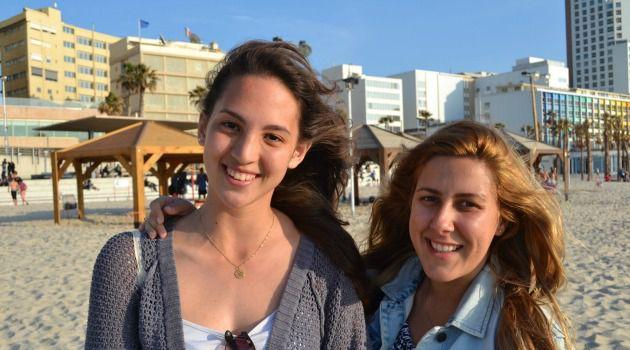 Or Amar, 21, with Martina Bialek, 23.