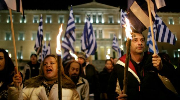 Crackdown on Far Right: Supporters of Greece?s neo-Nazi Golden Dawn party rally in Athens.