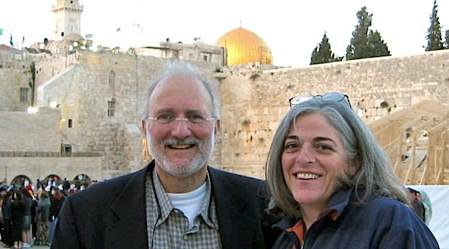 Happier Days: Alan Gross, with his wife, Judy, in Jerusalem in 2005.
