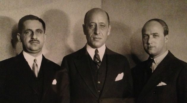 Zacharias Max Hackenbroch, Julius Falk Goldschmidt and Saemy Rosenberg, three of the Jewish collectors who purchased the Welfenschatz treasure in 1929.