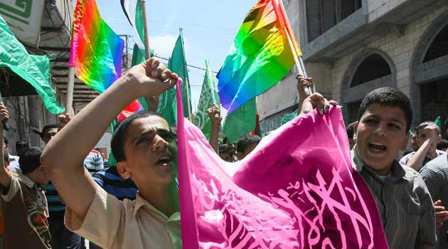 A New Flag: The flag reads, ?Together, all genders and sexualities can unite in love and Allah to brutally destroy our enemies.?