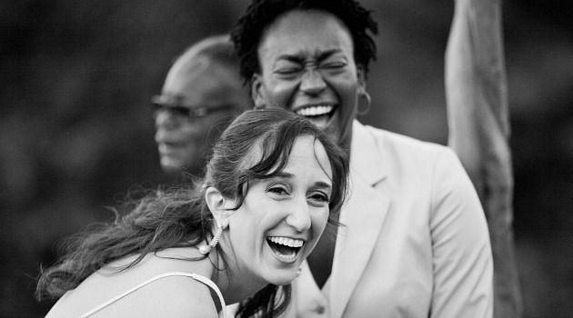 Happily Married: Helena Miller and Dara Raspberry celebrate their wedding in 2010. They are fighting to force Pennsylvania to recognize their union.