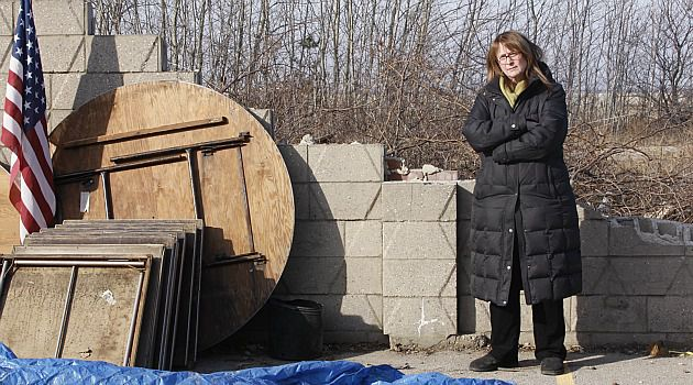 Storming: Rabbi Marjorie Slome of West End Temple in the Rockaways wonders if the synagogue will ever get help to repair damage caused by superstorm Sandy.