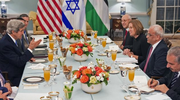 Breaking the Fast: Israeli and Palestinian negotiators start peace talks after traditional Muslim Ramadan dinner.