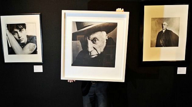 Picturing Pablo: A photograph of Pablo Picasso by Irving Penn, some of whose work is on display at the Art Institute of Chicago in ?Underfoot (1999-2001)?