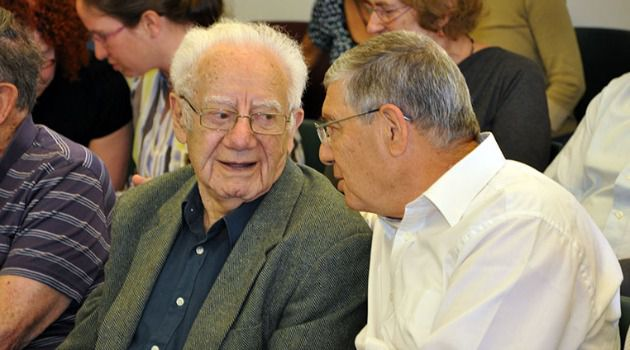 Hero Historian: Israel Gutman, left, fought in the Warsaw Ghetto resistance and went on to be the Jewish State?s most prominent survivor historian.