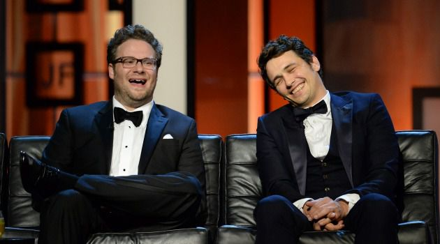 """Scary Clowns: Seth Rogen and James Franco, stars of """"The Interview."""""""