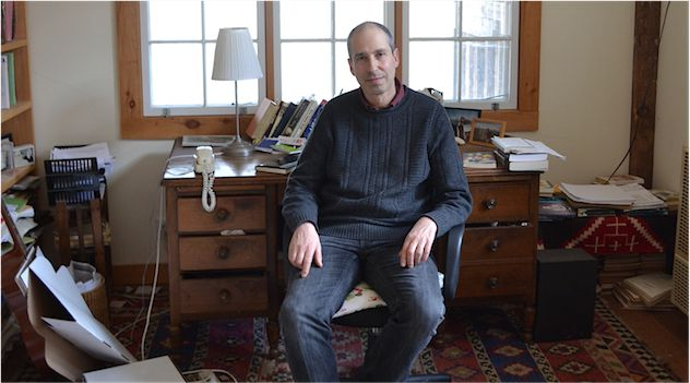 An Atypical Victim:  James Lasdun at home in upstate New York.