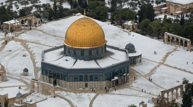 Chilly Holy City: Jerusalem was blanketed by snow in December 2013 — and could see more of the white stuff this week.