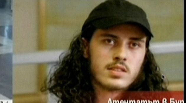 Jihadi: Officials denied reports that Mehdi Ghezali, an Islamic militant who did time at Guantanamo Bay, is suspected in the suicide bombing that killed seven in Bulgaria. He is shown here on Bulgarian television.