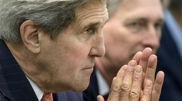 John Kerry meets with diplomats during talks on Iran's nuclear program.