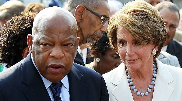 John Lewis with House Democratic Leader Nancy Pelosi.